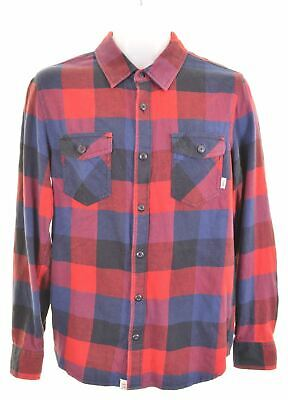 VANS Mens Flannel Shirt Small Multicoloured Check Cotton Tailored Fit  KM01 • 16.95£