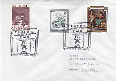 Austria 1986 10th Anniversary Of Foster Parents Invitation In Vienna Cover VGC • 2.50£