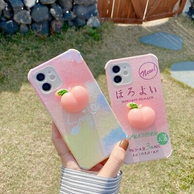 AU8.22 • Buy 3D Squishy Peach Soft TPU Phone Cover Case For IPhone 7 8 11Pro XS Max XR 12mini
