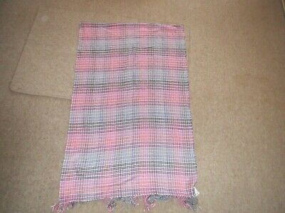 £4 • Buy Gap Pink Check Shawl/scarf Supersoft