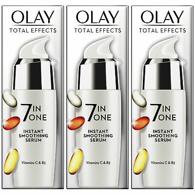 AU51.98 • Buy 3 X Olay Total Effects 7-in-1 Anti-Ageing Instant Smoothing Serum, Healthy Skin