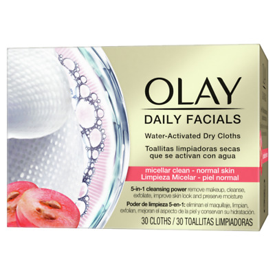 AU15.31 • Buy Olay Daily Facials Regular Dry Cloths - Water Activated - 5-in-1 Cleansing Power