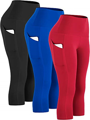 Cadmus Womens Fitness Capris For Yoga W Side Pockets,1109,Black & Blue & • 43.70£