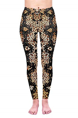 Kukubird Printed Leopard Patterns Women's Yoga Leggings Gym Fitness Running Size • 17.16£