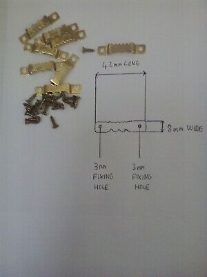 Saw Tooth Hangers 42 Mm Brass Finish Canvas Picture Frame Strong + Screws • 2.53£