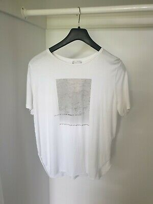 AU15 • Buy Zara Beautiful Beaded White Tshirt Small 8