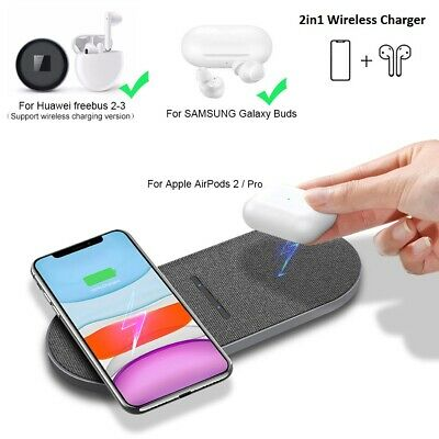AU20.98 • Buy AU 20W Qi Wireless Charger Mat Dual Charging Pad Stand For IPhone 12 Pro 11 XS 8