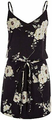 GRACE KARIN Women Floral Print Dress Spaghetti Strap, Black-white, Size X-Large • 12.99£