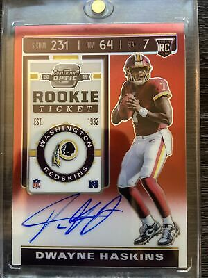 $ CDN107.84 • Buy 2019 Contenders Optic Red Rookie Ticket Dwayne Haskins ROOKIE AUTO /199 Centered