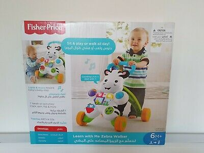 Fisher-Price Learn With Me Zebra Walker AND Little Snoopy Pull Along Dog • 53.10£