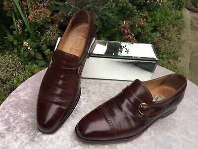 Genuine Russell And Bromley Moreschi Collaboration Brown Leather Shoes UK 8 • 39.99£