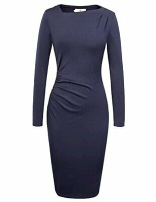GRACE KARIN Women Asymmetric Neckline Wear To Work Casual, Black, Size Small • 12.99£