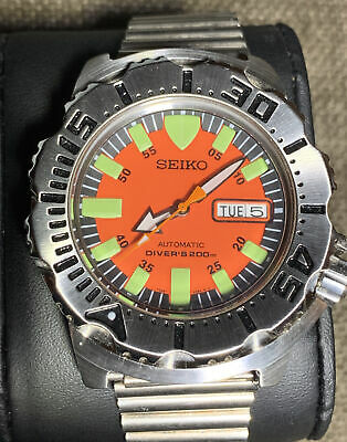 $ CDN63.58 • Buy Seiko Diver's 200m Automatic Gorgeous Orange Dial Edition . Great Condition