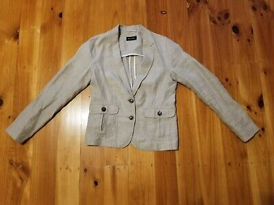 AU25 • Buy Massimo Dutti Woman Cream Jacket / Blazer, Size AU 10