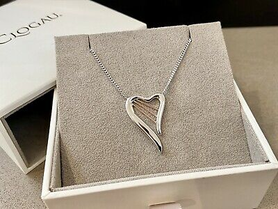 BRAND NEW Clogau Heartstrings HARP Necklace Sterling Silver Welsh Gold Rose Gold • 89.50£