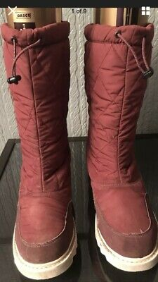 Aigle Thinsulate Burgundy Quilted Boots Size 8 • 10£