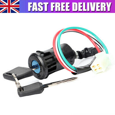 4 Wire Universal Motorcycle Ignition Switch Barrel Quad ATV On Off Switch Key • 5.85£