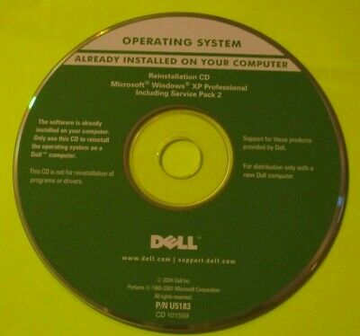 Dell Windows XP Pro Service Pack 2 CD ONLY • 8£