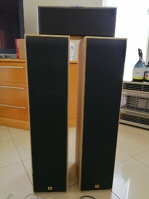 AU95 • Buy 2 JBL Floor Standing Speakers PLUS Centre Speaker Made In Denmark With Cables