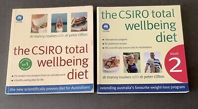 AU29.50 • Buy The CSIRO Total Wellbeing Diet Books 1 And 2 Paperback 2005/6 Recipes Exercises