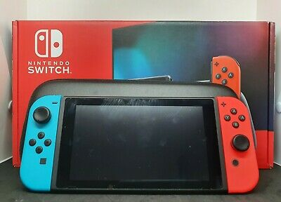 AU374.99 • Buy Nintendo Switch 32gb Neon Console HAC-001 (01) W/Accessories/Cables/Carry Case