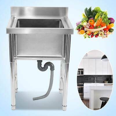 Stainless Steel Commercial Catering Kitchen Wash Table Deep Pot Sink Large Bowl • 175£