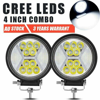 AU38.99 • Buy 2X 4inch 100W LED Lights Driving Fog Pods Spot Flood Combo White DRL Offroad 5''