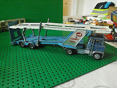 Corgi  Major Toys  Ford Carrimore MkIV Car Transporter Truck Lorry, BLUE CAB • 19.99£