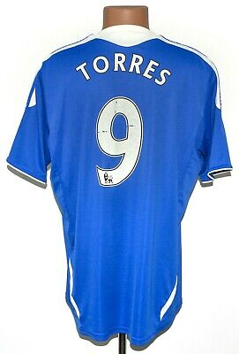 Chelsea London 2011/2012 Home Football Shirt Jersey #9 Torres Adidas Size M • 42.99£
