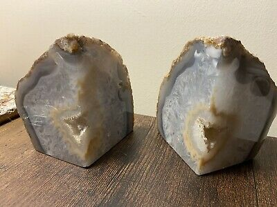 Druzy Agate Crystal Book Ends *BRAND NEW* 1.27kg • 35£