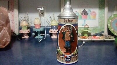 $ CDN25.07 • Buy 1990 Old Style Lidded Beer Stein #1270 Awesome Shape
