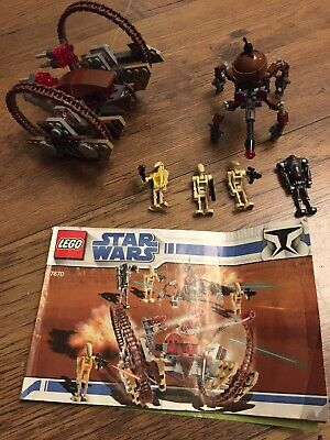 Lego Star Wars 7670 Hellfire Droid & Spider Droid Complete + Instructions Rare • 15£