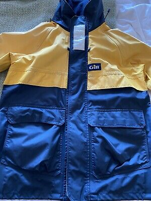 Rare Small Adult Gill Vintage Yellow & Blue Sailing Waterproof Jacket • 8£