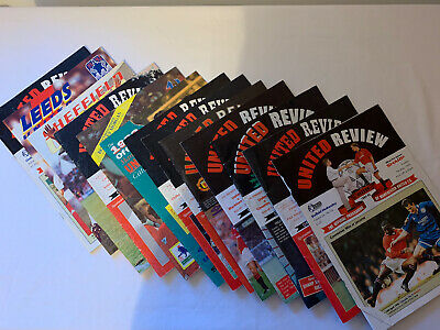 Manchester United Programmes 1990s (13 Fixtures) • 1.99£