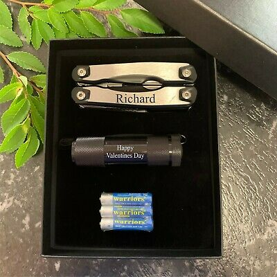 AU34.50 • Buy Valentines Day Gift Personalised Multi Tool Gift Set - Tool & Torch Gift For Him