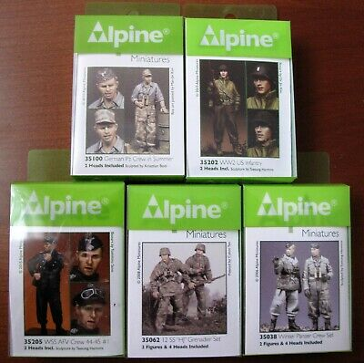 not Built Resin 1/35 Alpine Miniature Various Figures In New Condition. • 50£