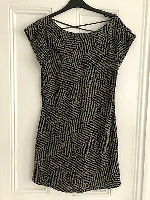 M&S Limited Collection-Lovely BNWOT Black And Green Dress Size 10 • 2.49£