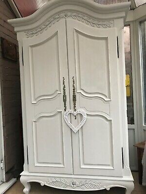 Stunning Shabby Chic French Armoire Wardrobe Louis 1V Style • 264.99£
