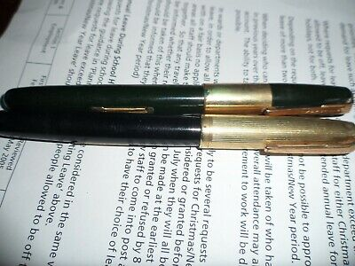 2 X WATERMAN FOUNTAIN PENS Both With Roll Gold Caps • 10£