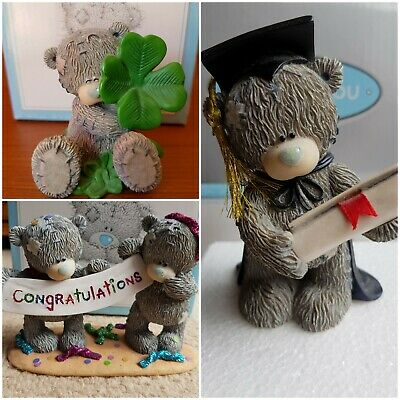 Me To You Tatty Teddy Collectible Figurines X3.Graduation Exam Congratulations. • 24.25£