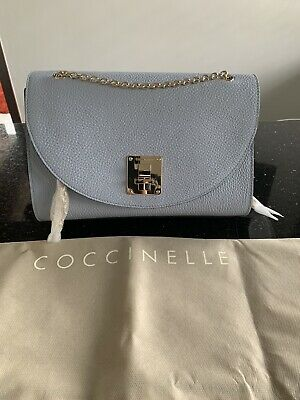COCCINELLE Baby Blue Shoulder Bag With Silver Coloured Hardware • 149.99£
