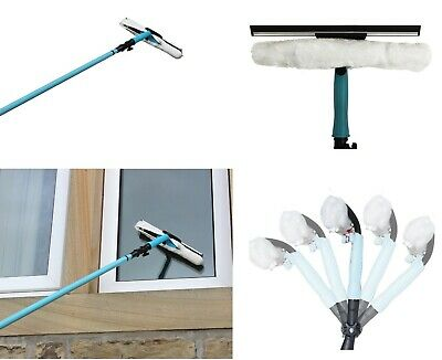 3.5M Telescopic Window Cleaner Kit Window Cleaning Equipment Squeegee Soft Head • 16.99£