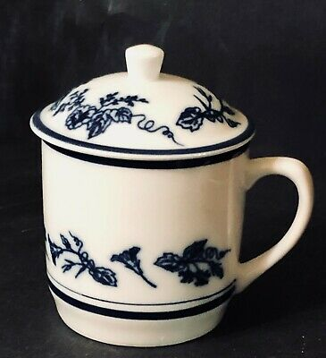 £5.81 • Buy Williams Sonoma FRENCH FLORAL White & Blue Tea/Coffee Cup With Lid