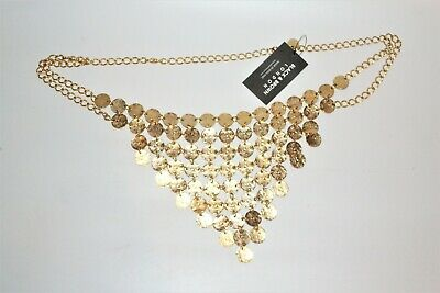 Gold Disc/Coin Chain Belt By Black & Brown Of London - Belly Dancing Style • 5£