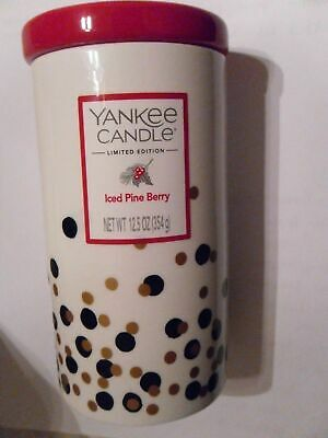 YANKEE CANDLE GLAMOUR CERAMIC JARS 4 X 354g SPARKLY GINGER MARTINI PINE BERRY • 99.95£