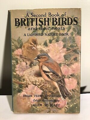 Vintage Ladybird Book - A Second Book Of British Birds And Their Nests. • 6£