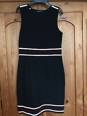 M&s Limited Collection Black Dress With Stripes M 12/14 • 4£