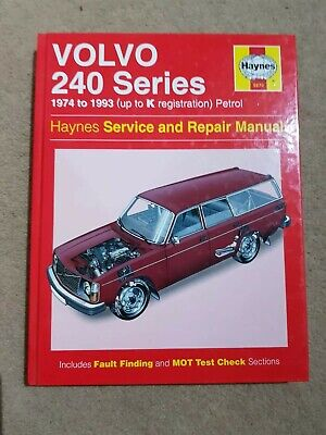 Haynes Volvo 240 Series Service And Repair Manual 1974 To 1993 Hardback • 5£