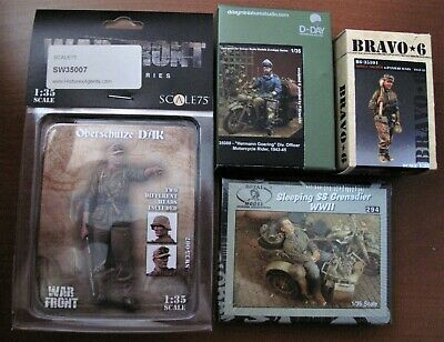 not Built Resin 1/35 Bravo 6, D-day, Scale 75 Various Figures In New Condition • 42£