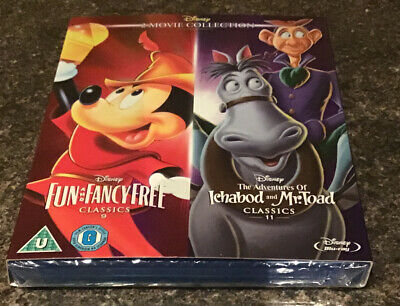 Fun And Fancy Free + Ichabod And Mr Toad  New Disney UK Blu-ray Classic 9 • 15.95£